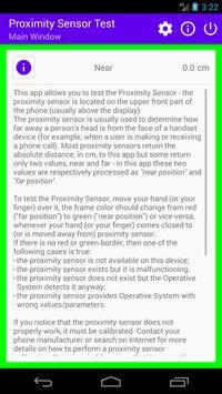 Proximity Sensor Test screenshot 1