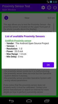 Proximity Sensor Test screenshot 2