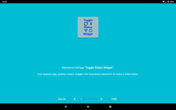 15 Schermata Toggle Status Widget