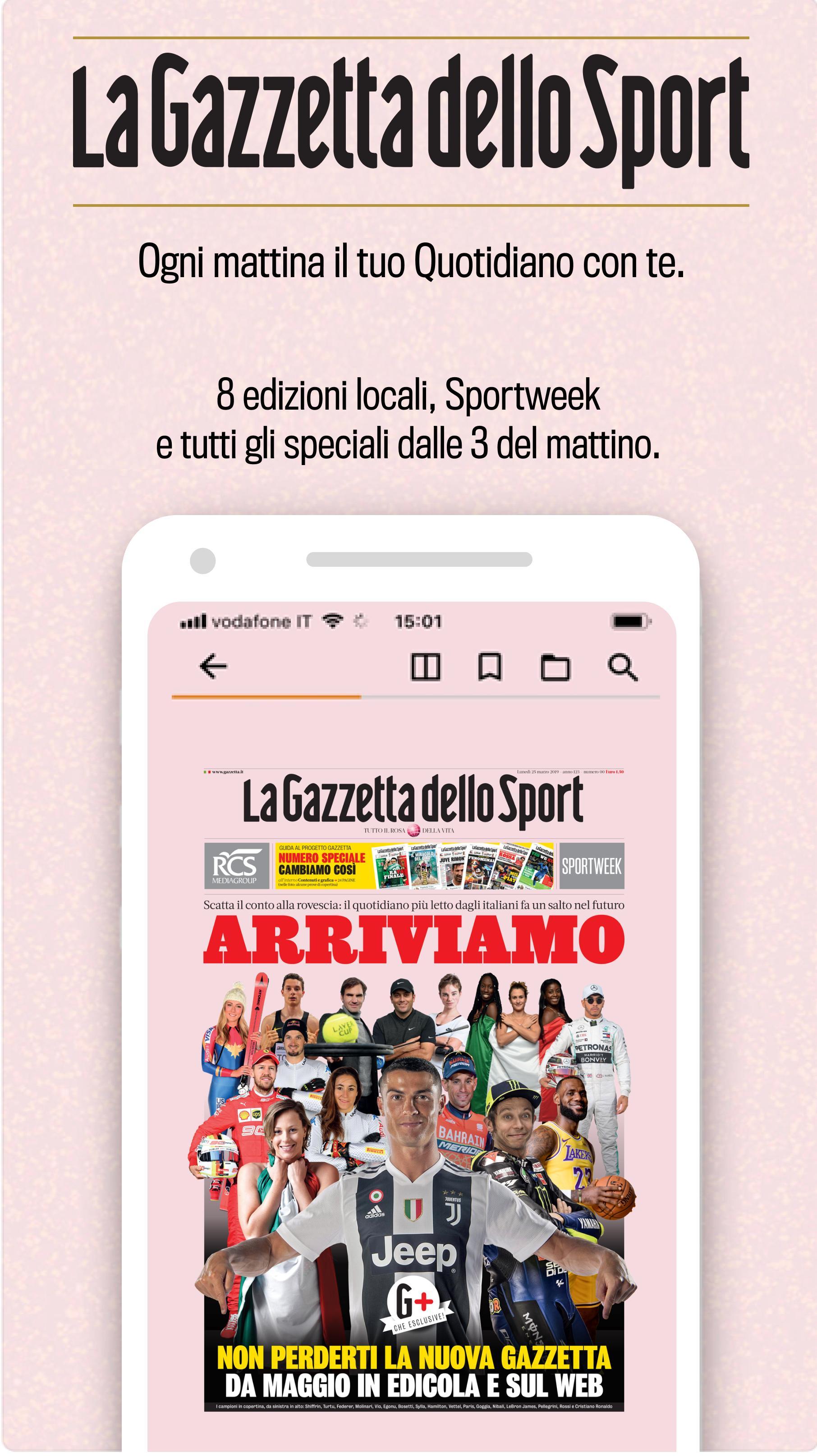 La Gazzetta Dello Sport Il Quotidiano For Android Apk Download