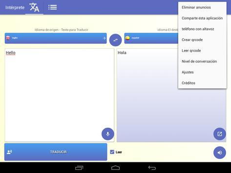 intérprete  voz Traductor traducción 118 idiomas captura de pantalla 10