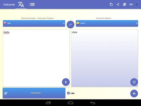 intérprete  voz Traductor traducción 118 idiomas captura de pantalla 8
