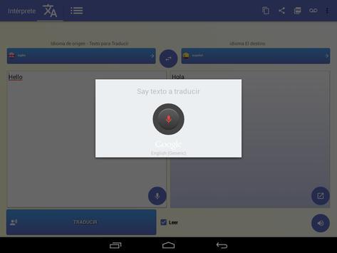 intérprete  voz Traductor traducción 118 idiomas captura de pantalla 9
