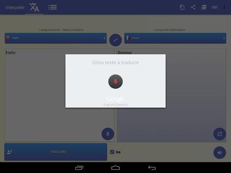 Interprète - Traducteur vocal 🇫🇷 capture d'écran 16