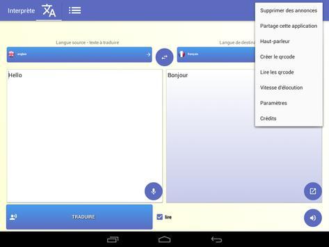 Interprète - Traducteur vocal 🇫🇷 capture d'écran 19