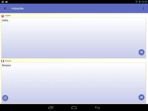 Interprète - Traducteur vocal 🇫🇷 capture d'écran 21