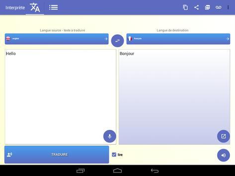 Interprète - Traducteur vocal 🇫🇷 capture d'écran 8