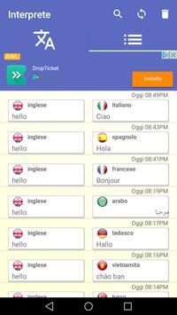 3 Schermata Interprete traduttore vocale traduzione 100 lingue