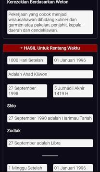 Kalkulator Weton Jawa Neptu Zodiak Shio Rezeki screenshot 3
