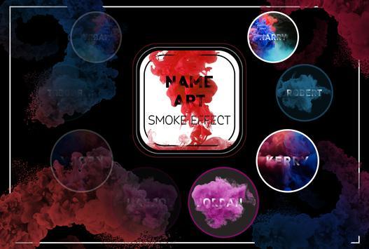 Smoke Name Art - Smoky Effect Focus n Filter poster