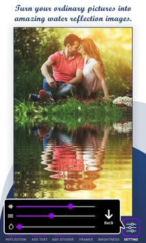 Water Reflection Photo Frame poster