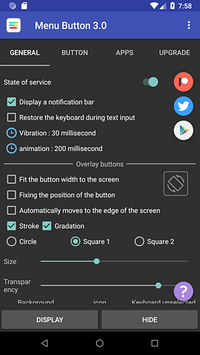 Botón de menú captura de pantalla 1