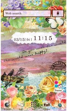 Pastel Flowers Wallpaper Theme poster