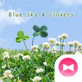 Симпатичные обои Blue Sky & Clovers иконка