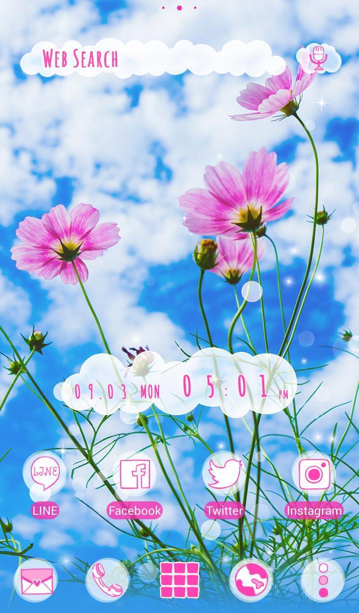 Android 用の 秋 壁紙アイコン 秋空とコスモス 無料 Apk をダウンロード