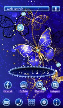 Beautiful Wallpaper Blue Butterfly Theme screenshot 4