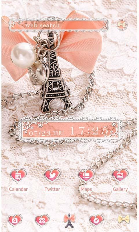 Cute Theme Girly Eiffel Tower For Android Apk Download