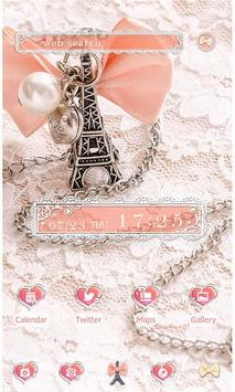 Cute Theme-Girly Eiffel Tower- poster