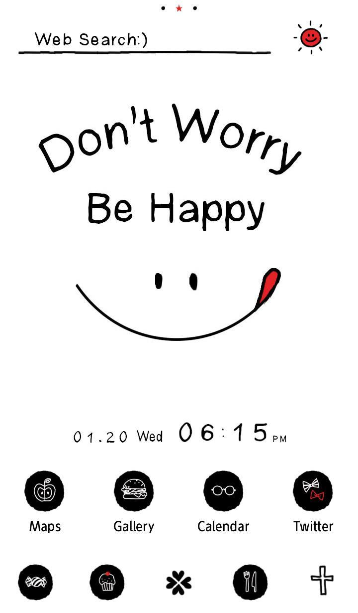 Android 用の シンプル壁紙 Don T Worry Be Happy Apk をダウンロード