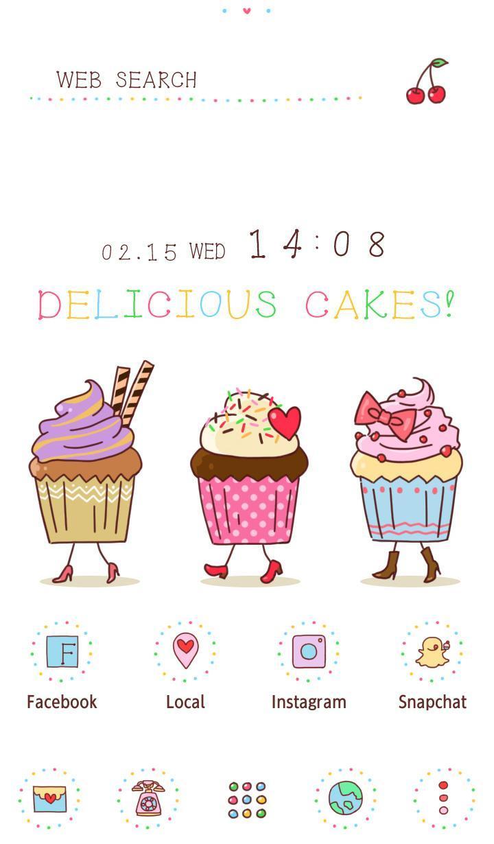 Android 用の スイーツ壁紙アイコン ファニーなカップケーキ 無料 Apk をダウンロード