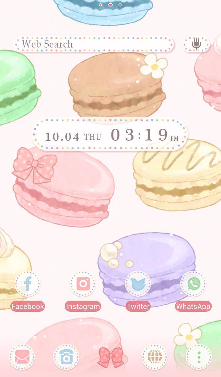 Android 用の スイーツ 壁紙アイコン かわいいマカロン 無料 Apk をダウンロード