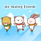 Cute Wallpaper Ice Skating Friends Theme For Android Apk Download