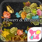 Flowers & Leopard Wallpaper icon