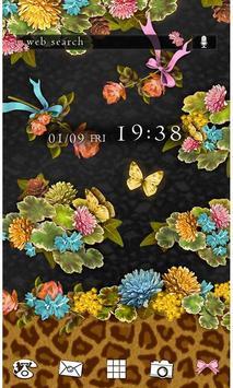 Flowers & Leopard Wallpaper poster