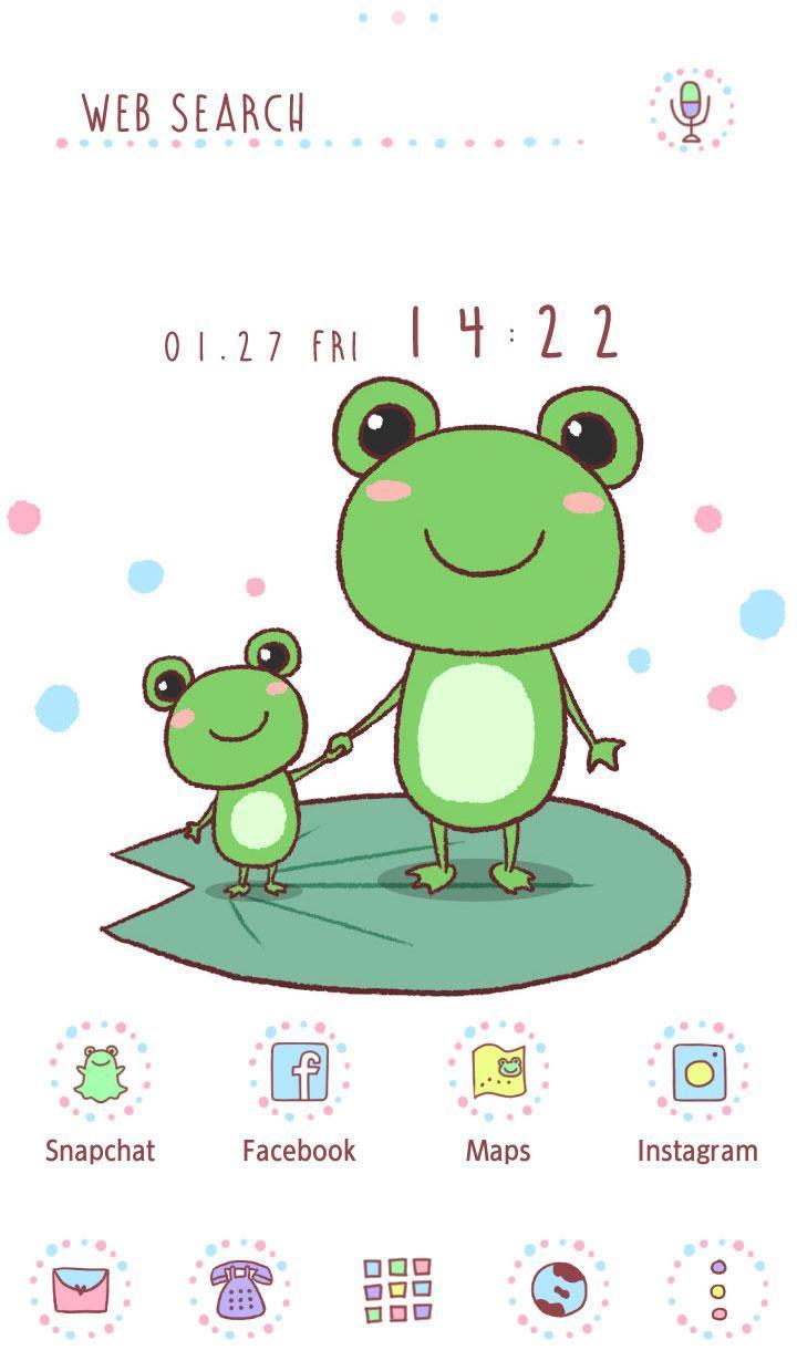 Android 用の かわいい壁紙アイコン なかよしカエル 無料 Apk を