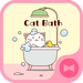 Cute Wallpaper Cat Bath Theme