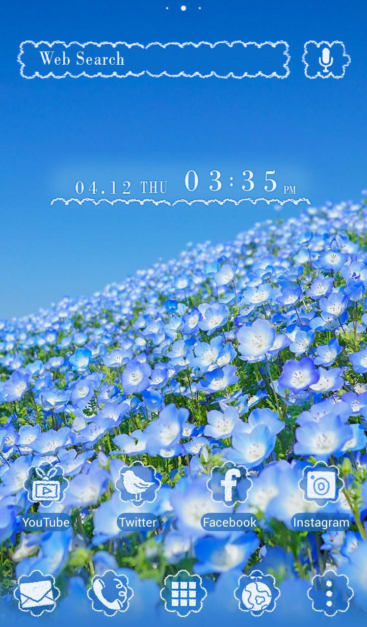 Android 用の 美しい 壁紙アイコン ネモフィラの丘 無料 Apk を