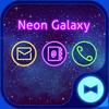 Wallpaper Tema Neon Galaxy icono