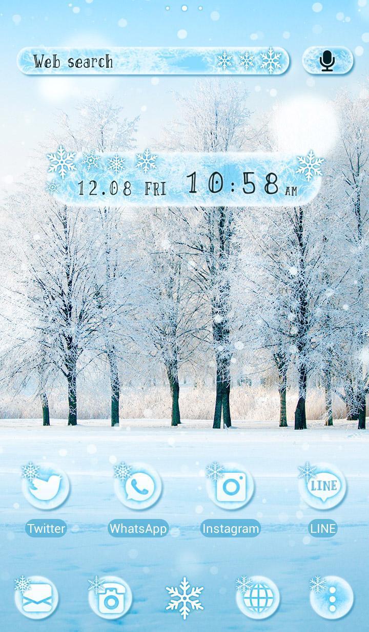 Android 用の 冬 壁紙アイコン Snow Tree 無料 Apk をダウンロード