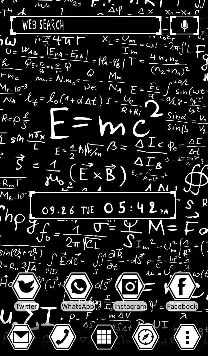 Android 用の 理系壁紙アイコン E Mc2 数式のテーマ 無料 Apk をダウンロード