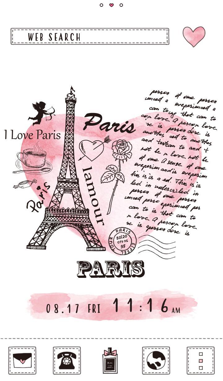 Android 用の かわいい壁紙アイコン Paris Love 無料 Apk をダウンロード