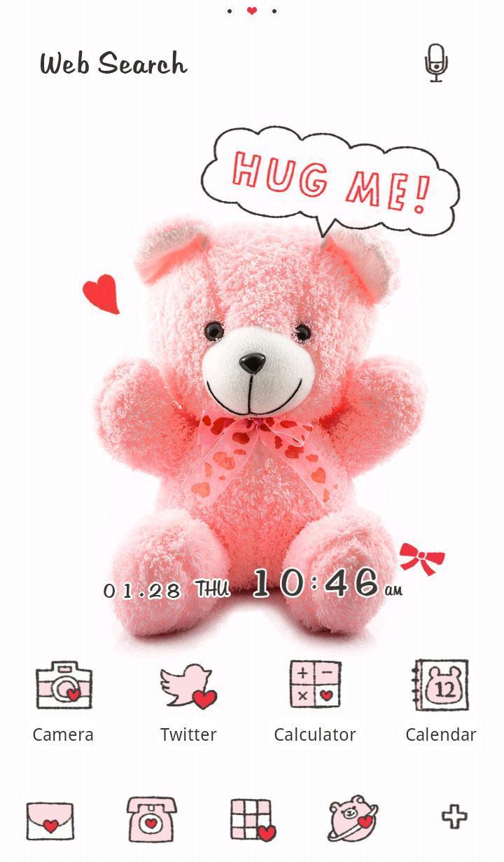 Android 用の くま壁紙 ピンク テディベア Apk をダウンロード