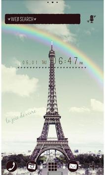 Cute Wallpaper Rainbow Eiffel poster