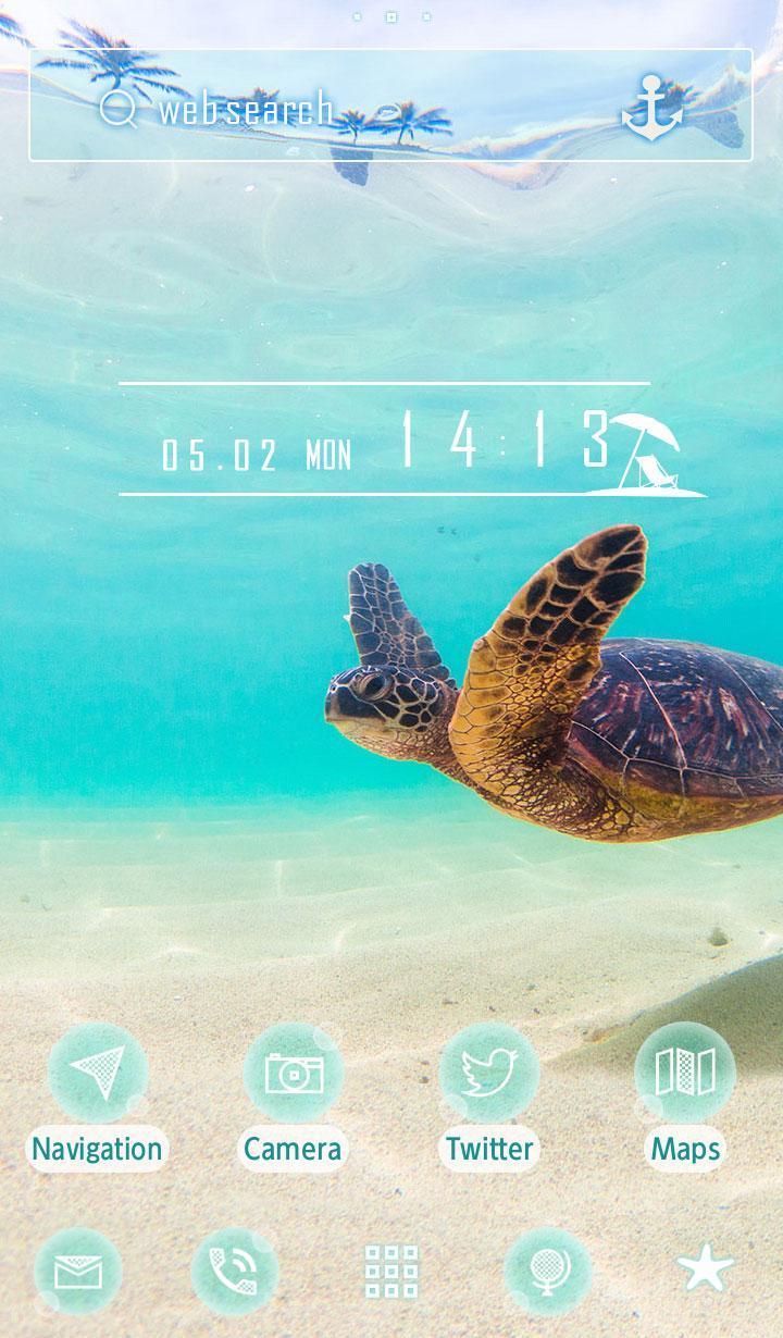 Android 用の 海の壁紙 ウミガメの海中散歩 Apk をダウンロード