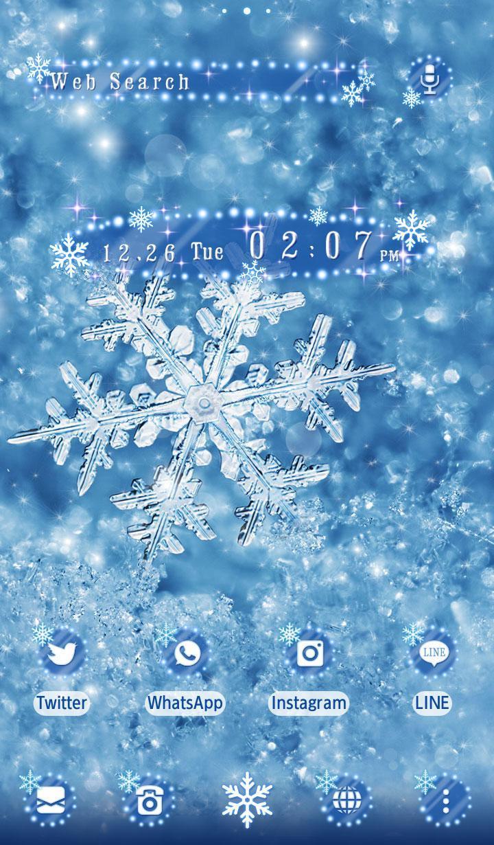 Android 用の 冬壁紙アイコン 雪の結晶 無料 Apk をダウンロード