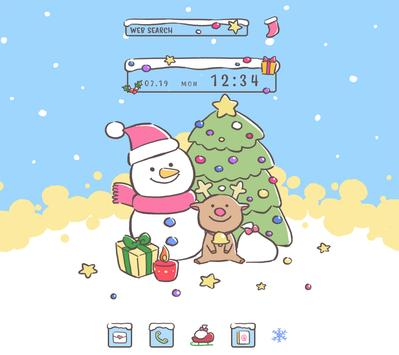 Holiday Wallpaper Christmas Snowman Theme poster
