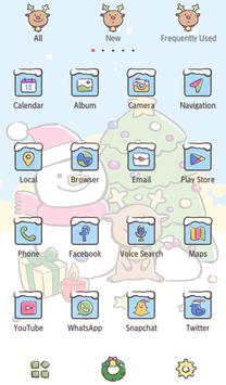 Holiday Wallpaper Christmas Snowman Theme screenshot 2