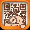 QRコードおじさん  広告なしの無料QRコード読み取りアプリ アイコン
