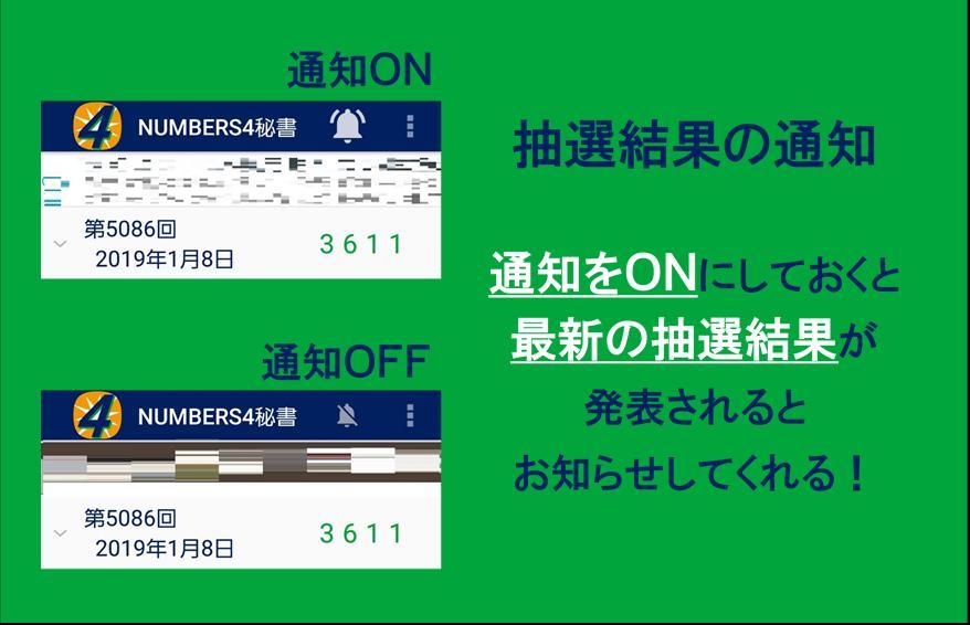の 結果 4 ナンバーズ