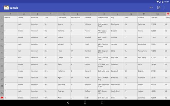 CSV Editor screenshot 10