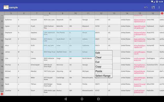 CSV Editor screenshot 13