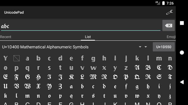 Unicode Pad screenshot 3
