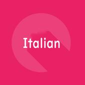 Italian word phrase book 1000 icon