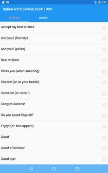 Italian word phrase book 1000 screenshot 2