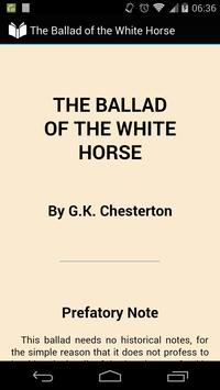 The Ballad of the White Horse poster