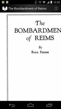 The Bombardment of Reims poster